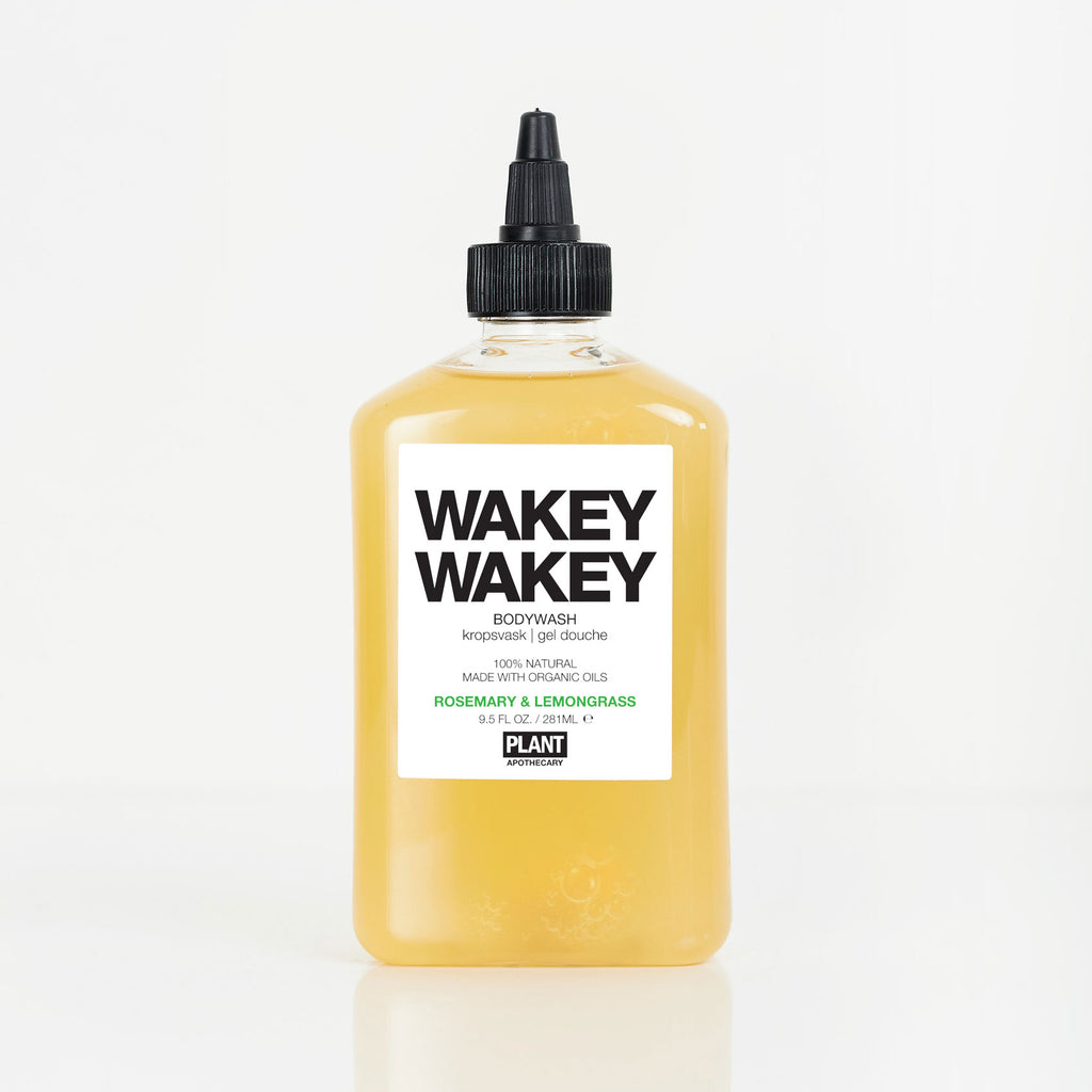 WAKEY WAKEY Organic Body Wash in front of white background