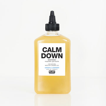 CALM DOWN Organic Body Wash in front of white background