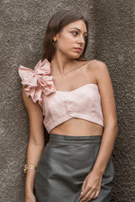 The Valentina Ruffled Shoulder Crop