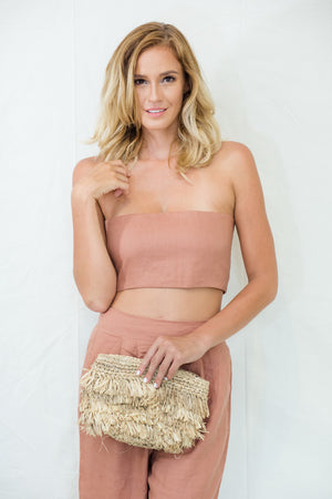 The Valeria Linen Tube Top