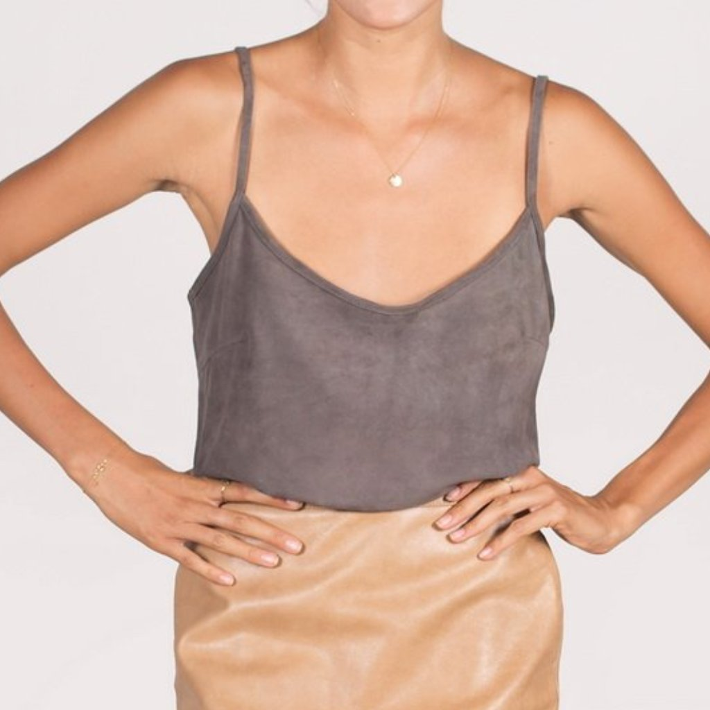 The Suede Tank Top