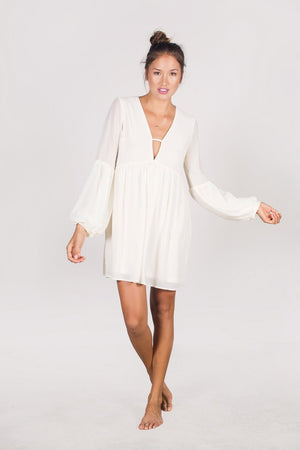 The Dayu Silk Bell Sleeved Dress