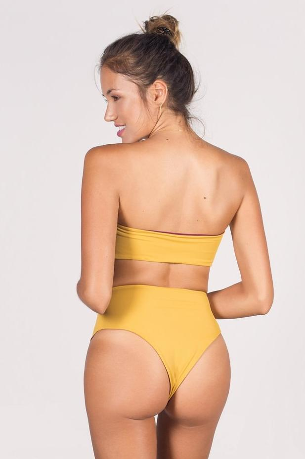 The Dewi Reversible Bikini High Waist Bottoms