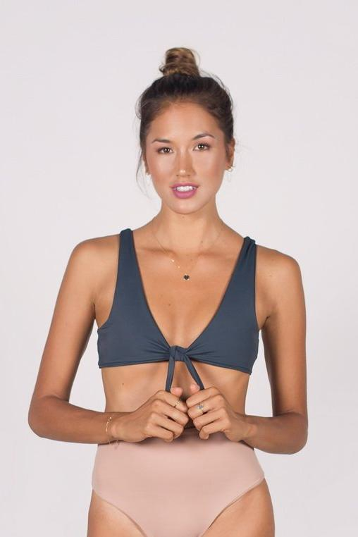 The Bidadari Front Knot Bikini Top