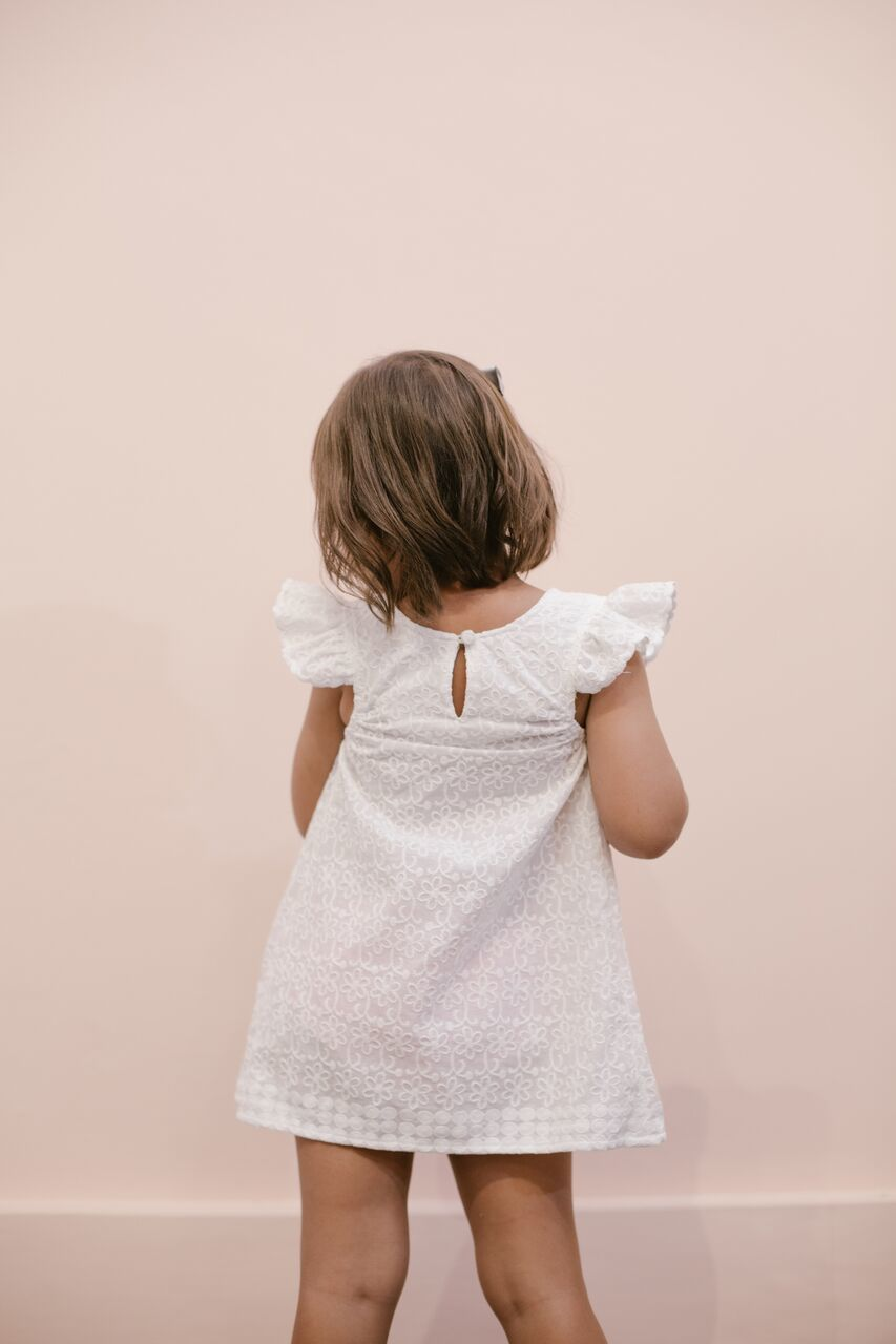 The Mini Waverly Eyelet Shift Dress