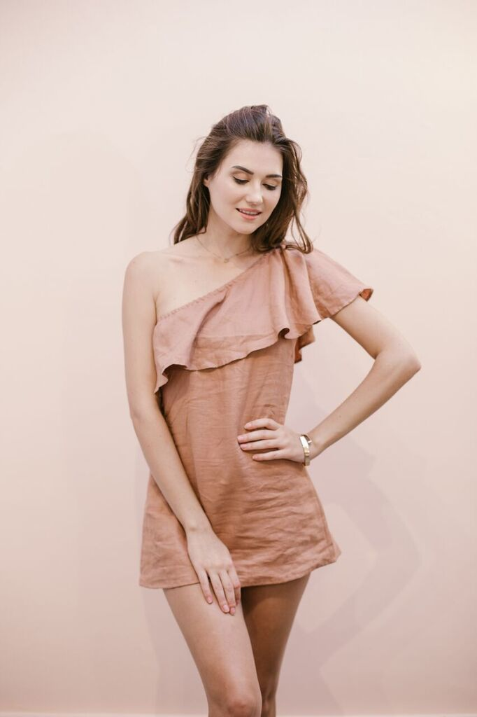 The Kasey One Shoulder Ruffled Dress
