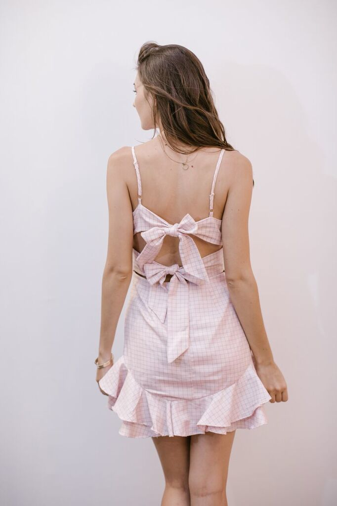 The Charmaine Ruffled Bow Dress