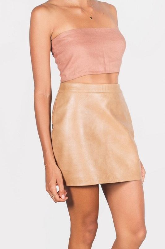 The Pencil Leather Skirt
