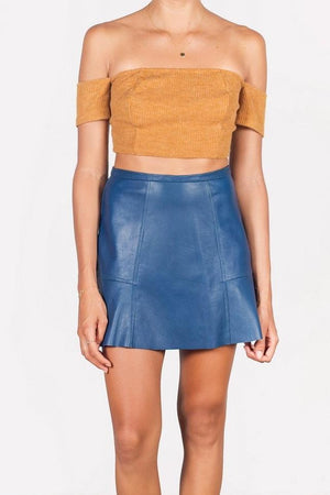 The Ruffled Leather Skirt