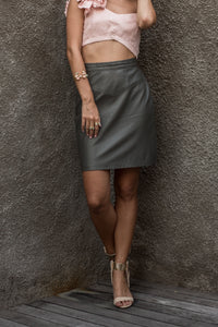 The Beatrice Leather Skirt