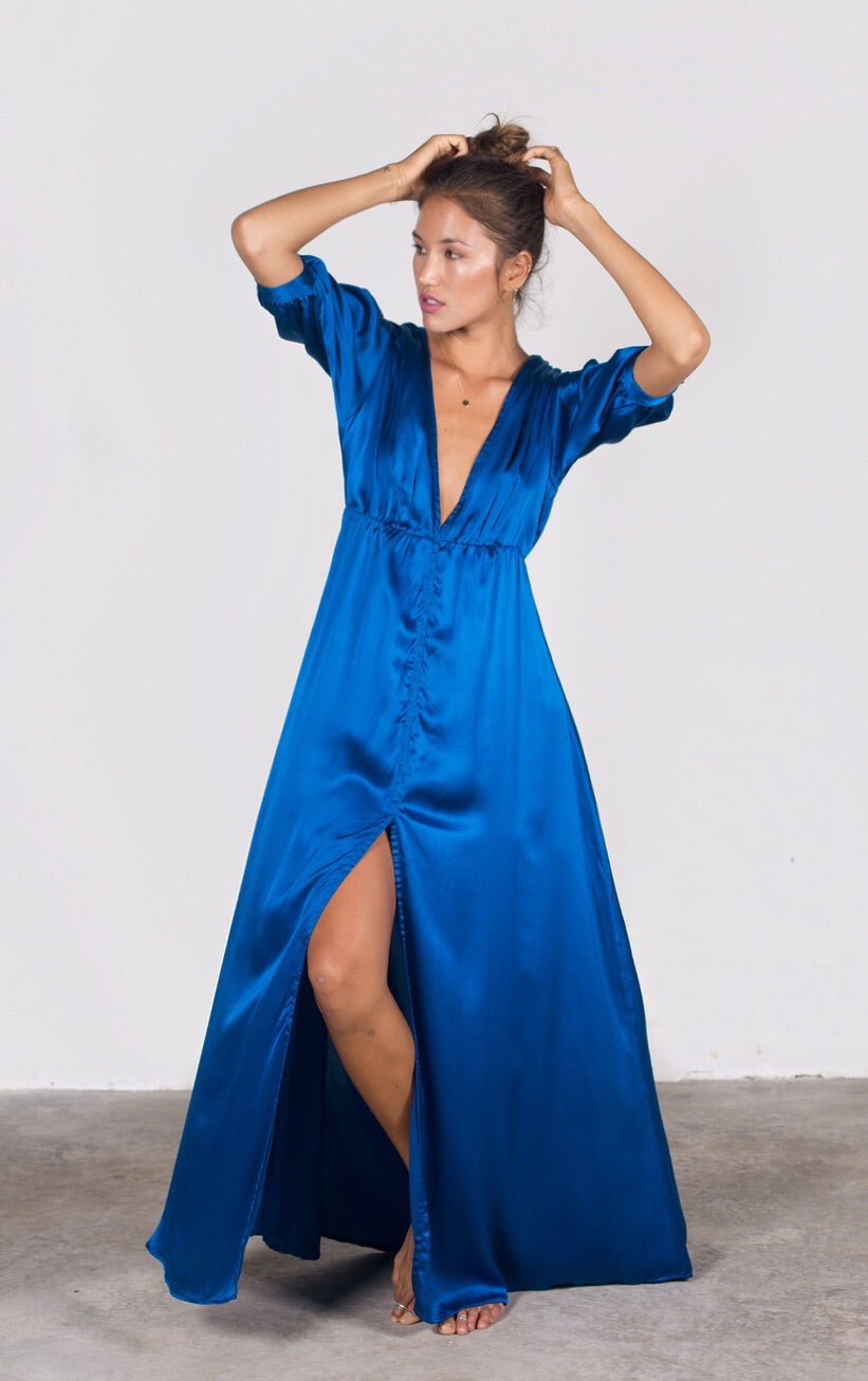 The Runaway Lover Silk Maxi Dress