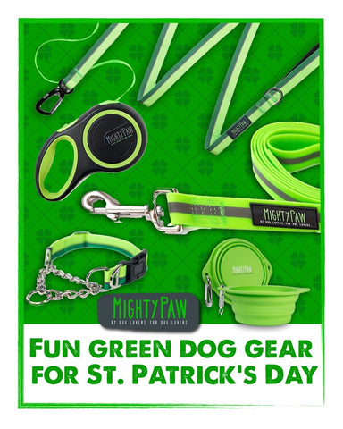 Mighty Paw | Fun Green Dog Gear for St. Patrick's Day