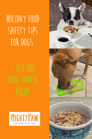 Holiday Food Safety Tips For Dogs And DIY Dog Food Topper Recipe