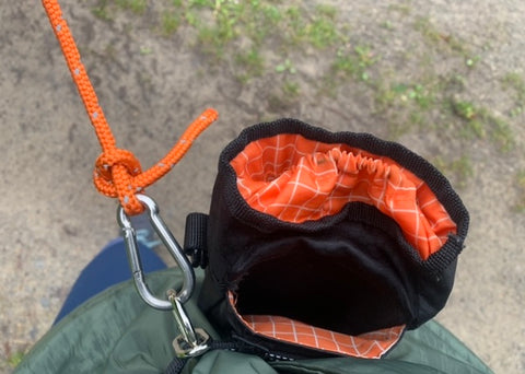 Mighty Paw Check Cord Tied To Hands-Free Belt