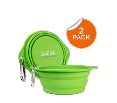Mighty Paw Collapsible Set of Silicone Bowls for Dogs