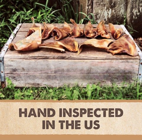 Mighty Paw Naturals Pig Ears are hand inspected in the US