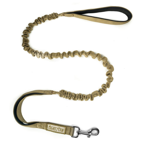 Mighty Paw Dual Handle Tactical Bungee Dog Leash