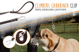 6 Ft Leather Leash. Super Soft Padded Handle. 100% Premium