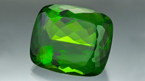 130.60 carat cushion shaped peridot