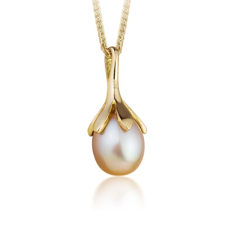 Mặt dây Ngọc trai Biển Golden South Sea Pearl Gold Pendant - AME Jewellery