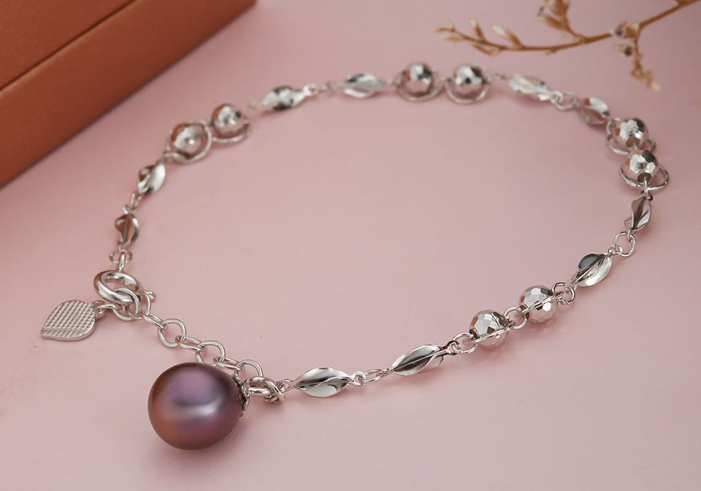 Lắc tay Ngọc trai nước ngọt peacock Freshwater Pearl Bracelet - AME Jewellery