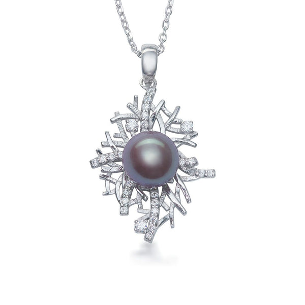 Mặt dây Ngọc trai nước ngọt Lavender Freshwater Pearl AME Jewellery