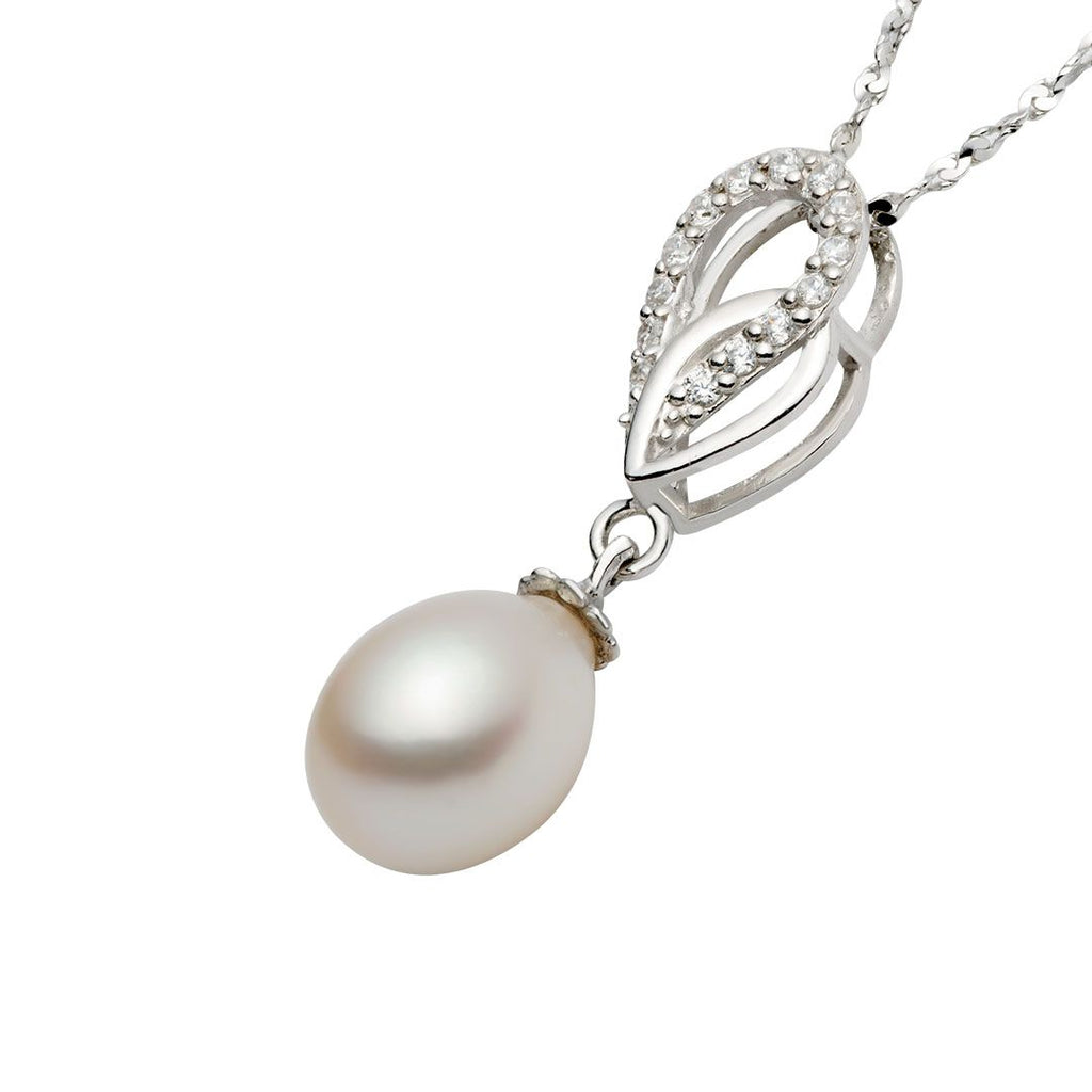 Mặt dây Ngọc trai White Freshwater Pearl Pendant - AME Jewellery