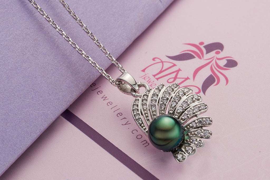 Mề đay Ngọc trai nước ngọt Peacock Freshwater Pearl Pendant - AME Jewellery
