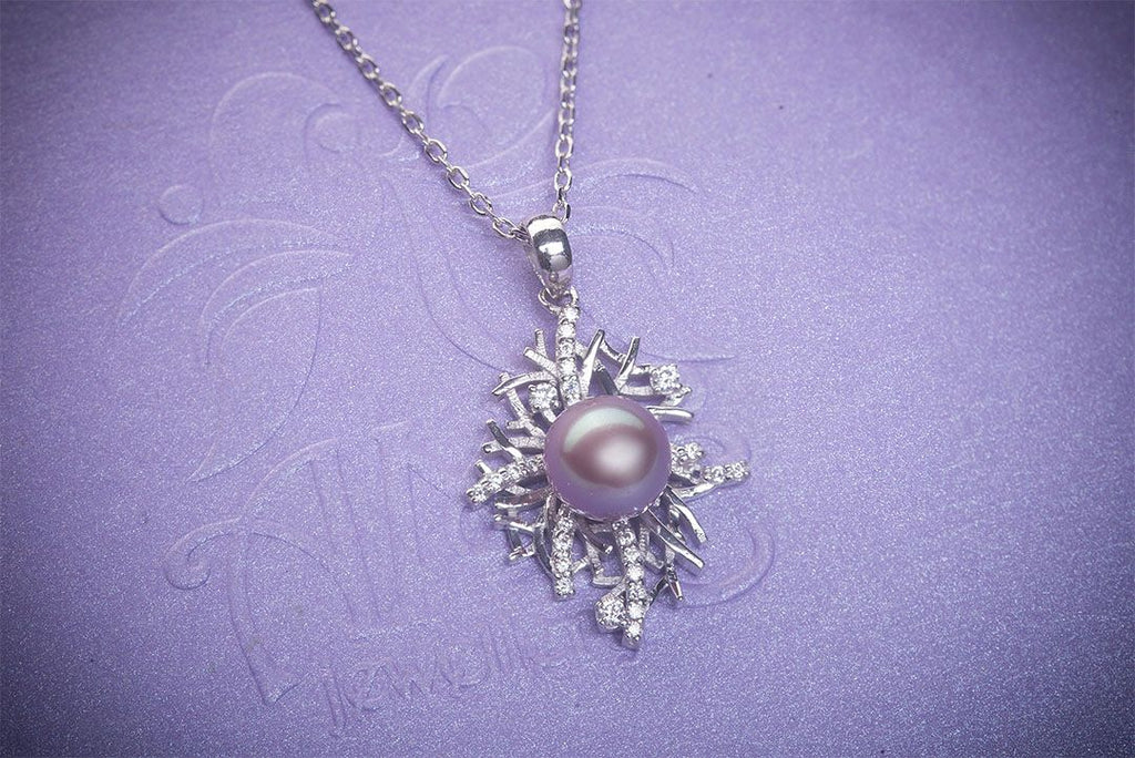 Mặt dây Ngọc trai nước ngọt Lavender Freshwater Pearl Pendant - AME Jewellery