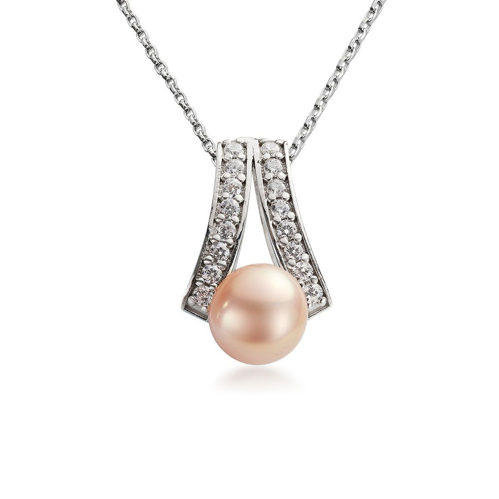 Mặt dây Ngọc trai nước ngọt Pink Freshwater Pearl Pendant - AME Jewellery