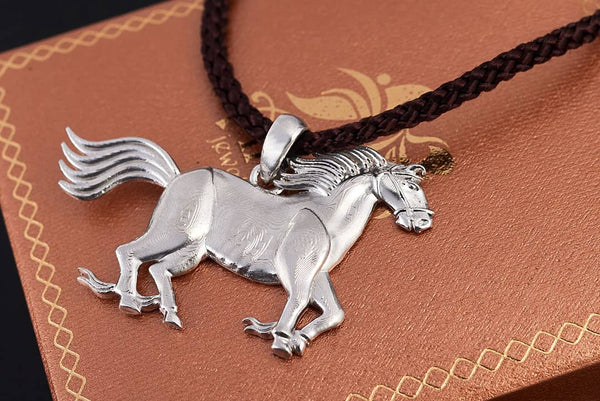 Mặt dây Nam Ngựa Bạc | Horse Pendant | AME Jewellery