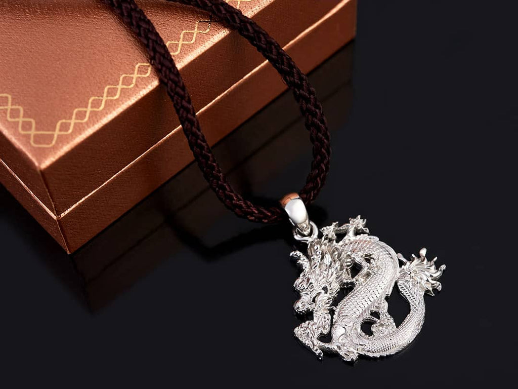 Mặt dây Nam Rồng Bạc - Dragon Silver Pendant | AME Jewellery