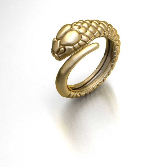Nhẫn Nam Rắn Vàng | Men's Snake Gold Ring | AME Jewellery