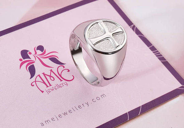 Nhẫn Nam Cross Signet Ring for Men | AME Jewellery