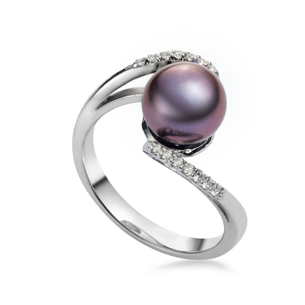 Nhẫn Ngọc trai peacock freshwater pearl ring AME Jewellery