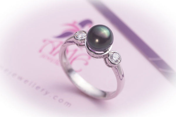 Nhẫn Ngọc trai nước ngọt Peacock Freshwater Pearl Ring - AME Jewellery