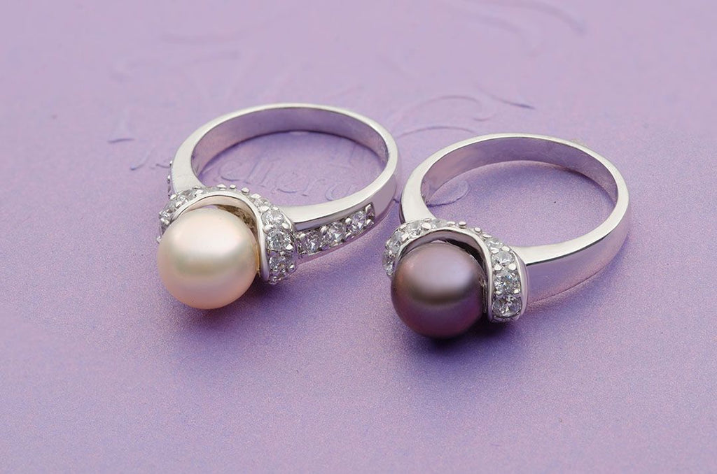 Nhẫn Ngọc trai nước ngọt  Freshwater Pearl accent ring - AME Jewellery