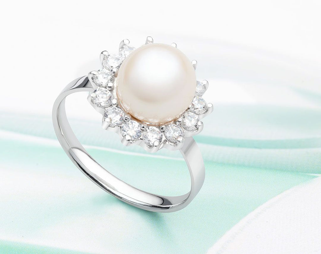Nhẫn Ngọc trai Pearl Sunflower Ring - AME Jewellery