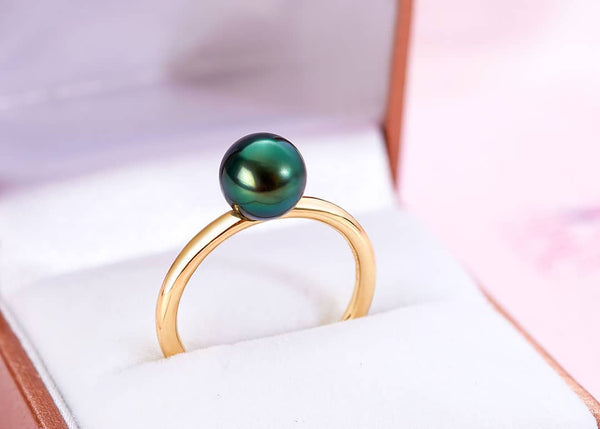 Nhẫn Vàng 14K Ngọc trai Peacock Freshwater Pearl Gold Ring | AME Jewellery