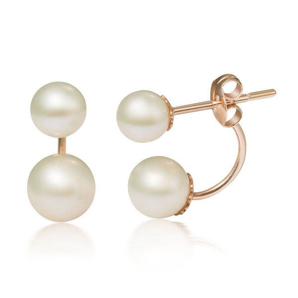 Freshwater pearl earrings in 14k rose gold - AME Jewellery