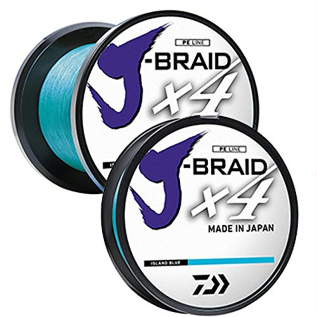 Daiwa J-Braid X4 300 Yard Spool 15LB Test - Island Blue