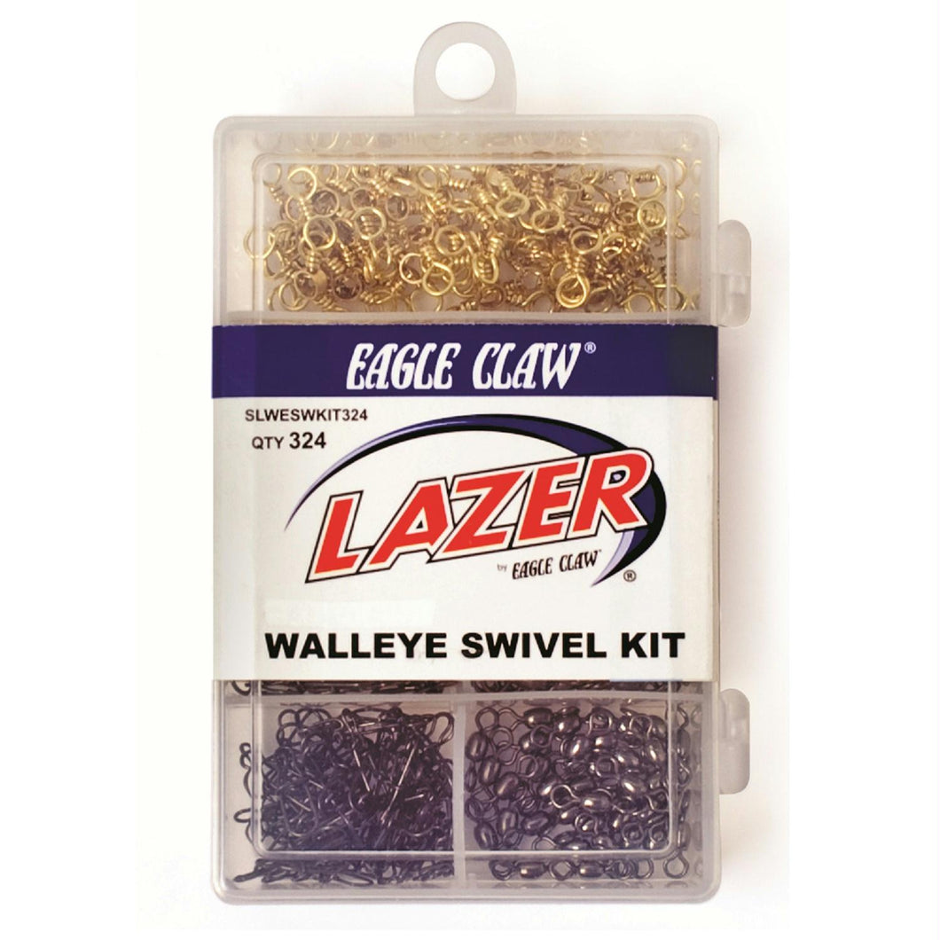 Eagle Claw 12-Lazer Walleye Swivel Kit Assortment-324 Pieces