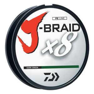 Daiwa J-Braid Dark Green Fishing Line 330 Yards 80lb Test