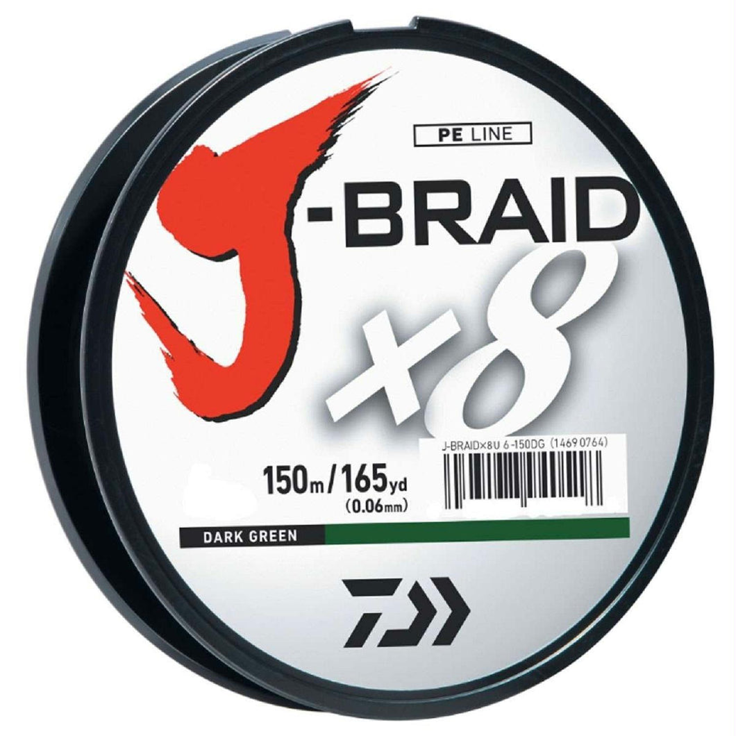 Daiwa J-Braid X8 Filler Spool 150M Dark Green 30 lb. Test