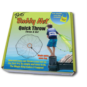 "Betts Buddy Quick Throw Net 3.5' 3-8"" mesh Chartreuse"