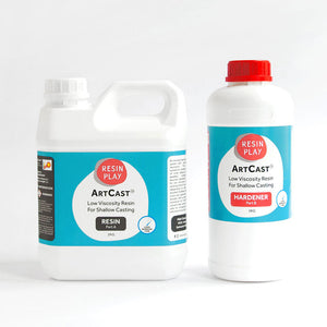 ArtCast Epoxy Resin - Low Viscosity Resin For Shallow Casting