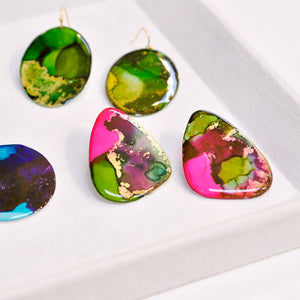 Alcohol ink jewellery pendants + Galaxy brass tray workshop (2-in-1)
