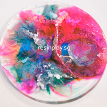 Alcohol ink resin coaster / clock