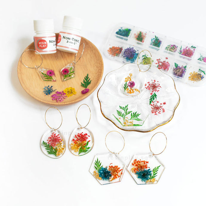 Flowers Forever Earrings Starter Kit - Mixing Cups, Stirrers & Gloves Included