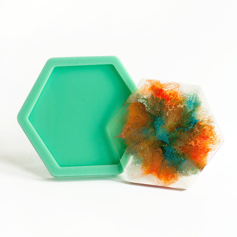 Handmade Hexagon Coaster Silicone Mould for Resin Casting